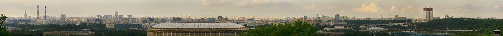 Panoramautsikt av den centrala Moskva Ryssland Arkivbild