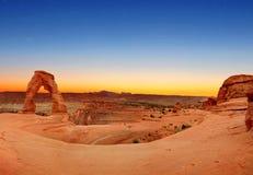 Panoramautsikt av den delikata bågen Arkivfoton