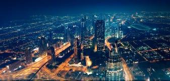 Panoramautsikt av den Dubai staden Royaltyfri Fotografi
