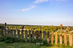 Panoramautsikt av den gamla staden av Borovsk, Ryssland royaltyfria bilder