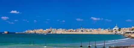 Panoramautsikt av den gamla tunnlandet Israel royaltyfria bilder