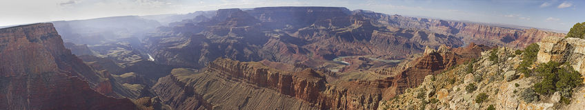 Panoramautsikt av den Grand Canyon nationalparken i Arizona, USA Arkivfoton