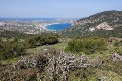 Panoramautsikt av den Kos ön Arkivfoto