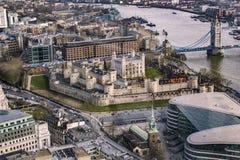 Panoramautsikt av den London staden Arkivfoton