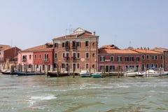 Panoramautsikt av den Murano ?n royaltyfria bilder