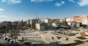 Panoramautsikt av den Siirt stadsfyrkanten arkivbild