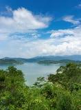 Panoramautsikt av den tropiska ön Fotografering för Bildbyråer