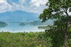 Panoramautsikt av den tropiska ön Arkivfoton