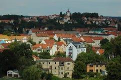 Panoramautsikt av den tyska staden arkivfoton