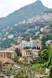 Panoramautsikt av den Vietri sulstoen, Amalfi kust royaltyfri fotografi