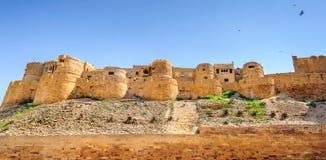 Panoramautsikt av det guld- fortet av Jaisalmer, Rajasthan Indien Fotografering för Bildbyråer