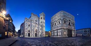 Panoramautsikt av domkyrkan av Santa Maria del Fiore, Florence arkivbilder