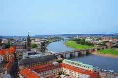Panoramautsikt av Dresden Arkivbilder