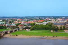 Panoramautsikt av Dresden Arkivfoton