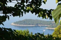Panoramautsikt av Dubrovnic arkivfoto