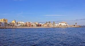 Panoramautsikt av El Molinar i Mallorca, Spanien royaltyfri foto