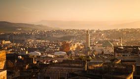 Panoramautsikt av Fez Royaltyfri Bild