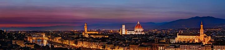 Panoramautsikt av Florence Arkivbild