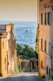 Panoramautsikt av Florence från Fiesole Royaltyfri Fotografi