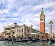 Panoramautsikt av Grand Canal, Venedig, Italien Royaltyfri Fotografi