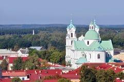 Panoramautsikt av Grodno Arkivfoton