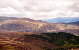 Panoramautsikt av högländerna Arkivfoto