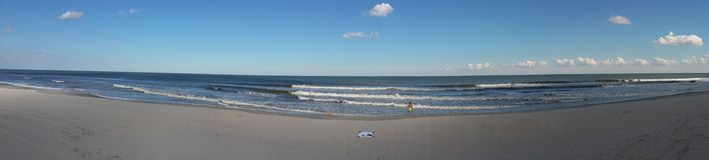 Panoramautsikt av havet Arkivfoton