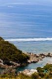 Panoramautsikt av havet i Maratea Royaltyfria Bilder