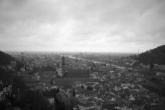 Panoramautsikt av Heidelberg royaltyfri foto