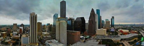 Panoramautsikt av Houston Downtown royaltyfria foton