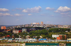 Panoramautsikt av Irkutsken, Ryssland Arkivfoton