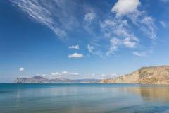 Panoramautsikt av Kara Dag Mountain Arkivfoton