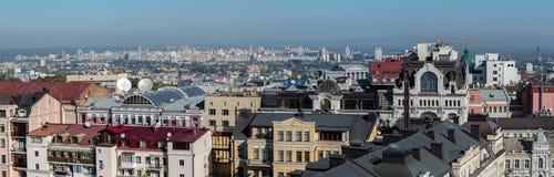 Panoramautsikt av Kiev, Ukraina Arkivbilder