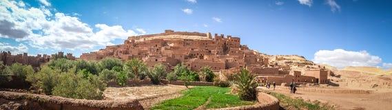 Panoramautsikt av Ksar Ait Benhaddou Ouarzazate Marocko royaltyfri fotografi