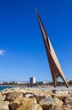 Panoramautsikt av kustlinjen Salou, Spanien Royaltyfria Bilder