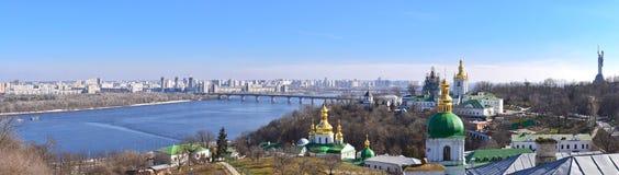 Panoramautsikt av Kyiv Arkivfoto