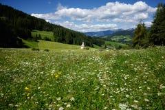 Panoramautsikt av kyrkan av St John av Nepomuk i södra Tyrol Royaltyfri Fotografi
