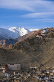 Panoramautsikt av Ladakh Arkivfoton