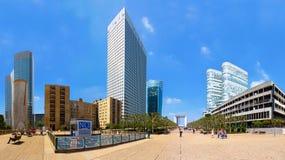 Panoramautsikt av Laförsvar i Paris Arkivfoto