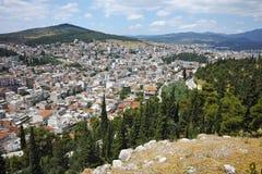 Panoramautsikt av Lamia City arkivfoton