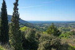 Panoramautsikt av lantliga Frankrike Royaltyfri Bild