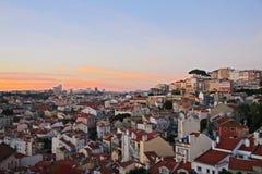 Panoramautsikt av Lissabon arkivbild