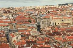 Panoramautsikt av Lissabon royaltyfria foton