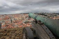 Panoramautsikt av Lissabon royaltyfri foto