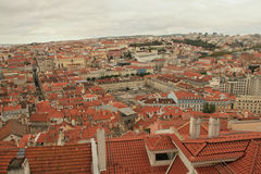 Panoramautsikt av Lissabon royaltyfria bilder