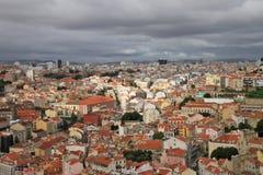 Panoramautsikt av Lissabon fotografering för bildbyråer