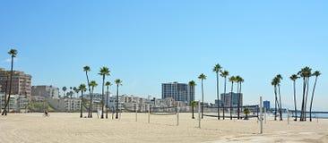 Panoramautsikt av Long Beach Arkivfoto
