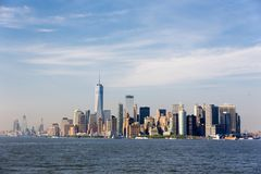 Panoramautsikt av Lower Manhattan, New York City, USA royaltyfria foton