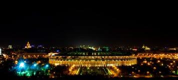 Panoramautsikt av Luzhniki stadion arkivbilder