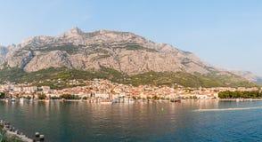 Panoramautsikt av Makarska Arkivfoton
